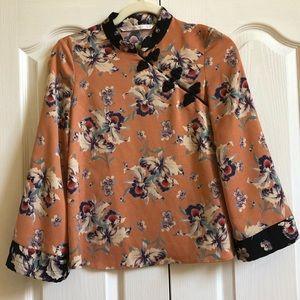 Zara Trafaluc Collection Orange Top Size XS